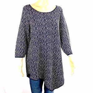 Chelsea & Theodore Women's Asymmetrical Sweater 1X